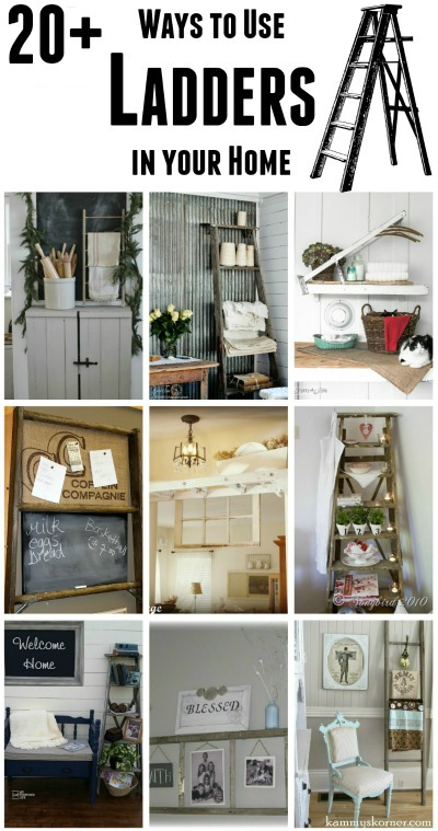 17 Ways to use Farmhouse Ladders in Your Home | Knick of Time