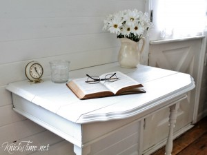 Repurposed Half Table into Nightstand