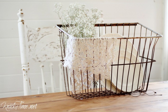 a 2 year old and a wire basket | Knick of Time