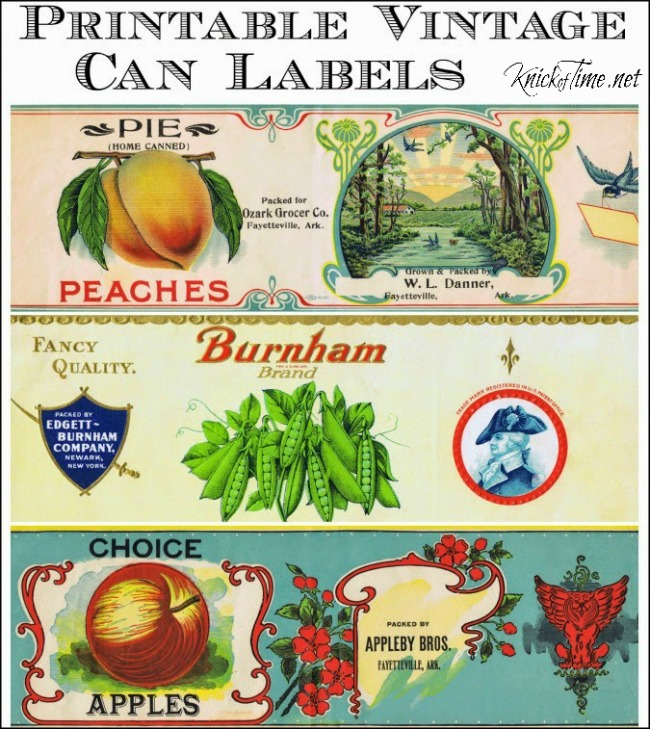vintage can labels