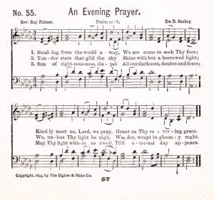 An Evening Prayer hymn
