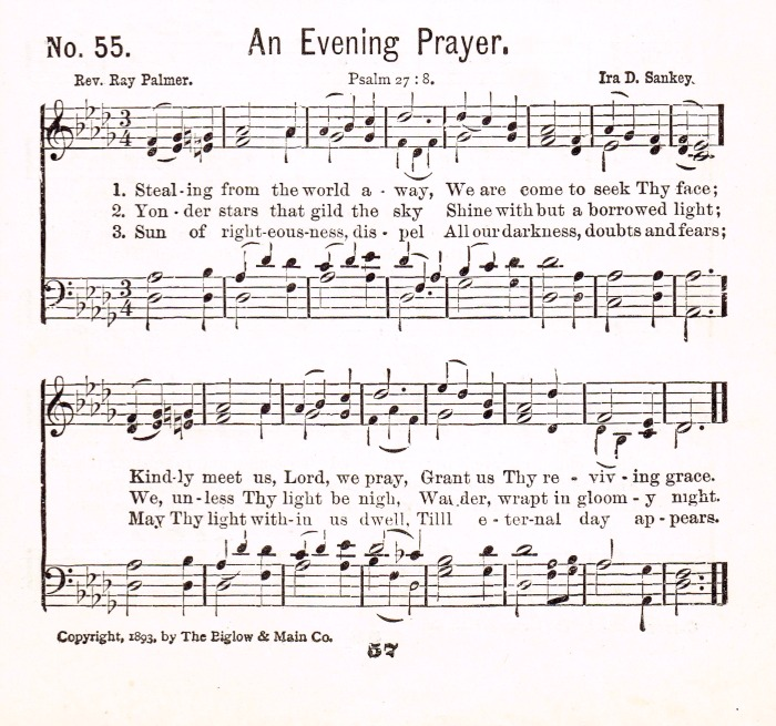 An Evening Prayer hymn
