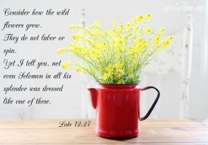 consider the lilies Luke 12:27