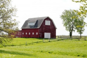 Big Red Barn Photograph Printable