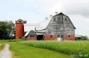 Gorgeous Wood and Brick Barn Photograph Printable