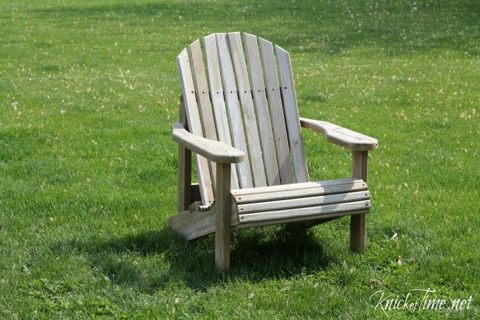 adirondack chairs before makeover
