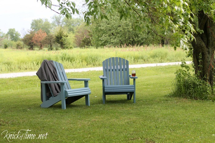 adirondack chairs makeover - KnickofTime.net