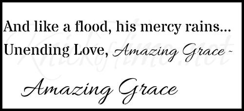 amazing grace lyrics sign