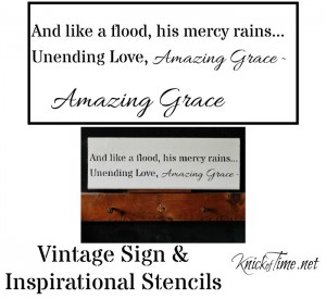 Amazing Grace Sign Stencil and Sign Giveaway!