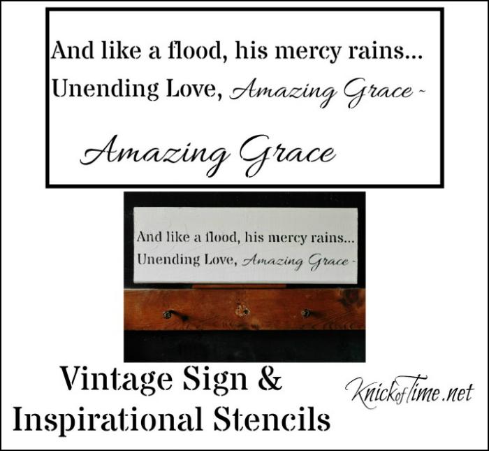 inspirational sign Amazing Grace stencil
