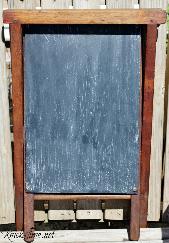 camp stool chalkboard