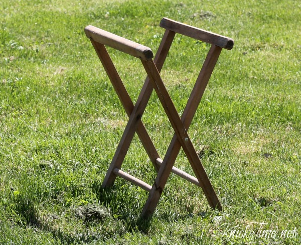 camp stool upcycle