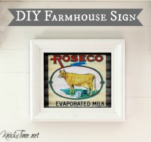 DIY Farmhouse Kitchen Wall Art