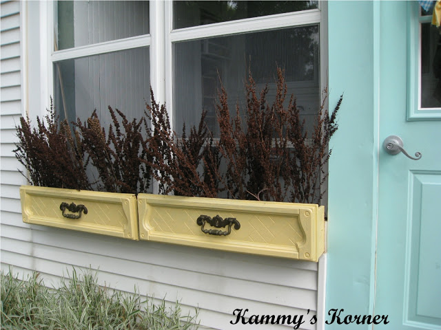 repurposed drawers window boxes