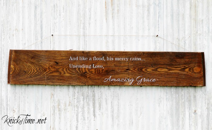 Amazing Grace sign stecil