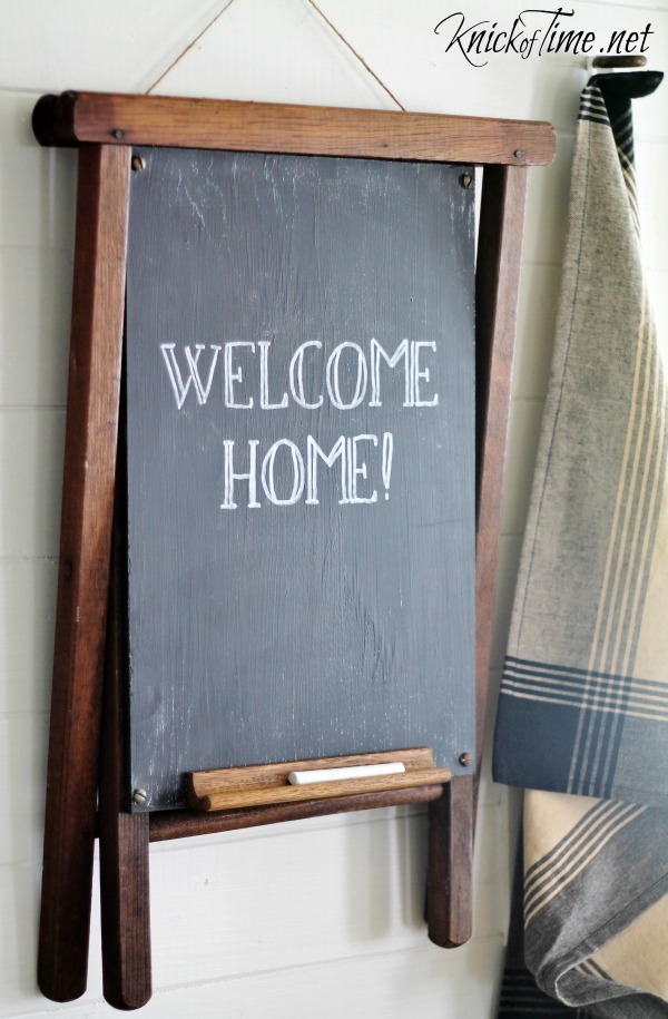 welcome home chalkboard