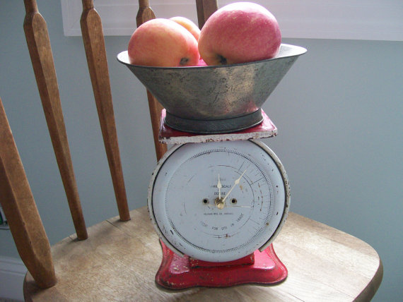 antique kitchen scale clock