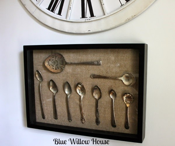 pottery barn inspired shadow box
