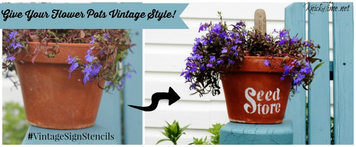 garden decor with stencils