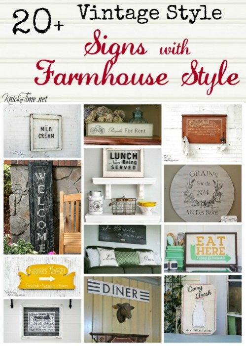 DIY vintage signs with farmhouse style - KnickofTime.net
