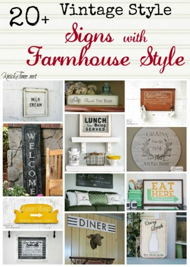 vintage signs farmhouse style