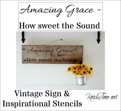 Amazing Grace Sign Stencil
