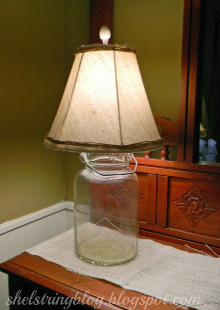 antique butter churn lamp