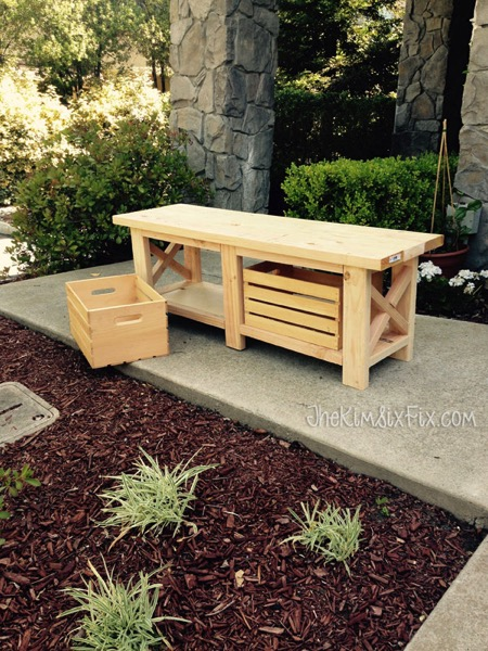 Crate storage bench