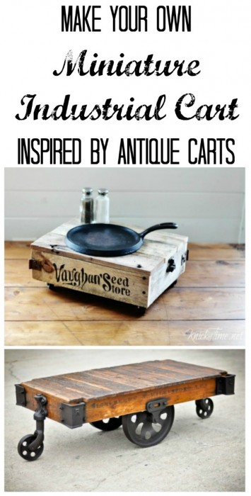 DIY miniature industrial cart | www.knickoftime.net