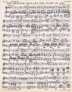 The Heavens Declare the Glory of God – Printable Antique Sheet Music
