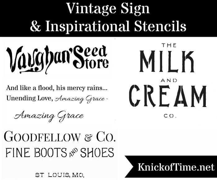 Vintage Sign Stencils