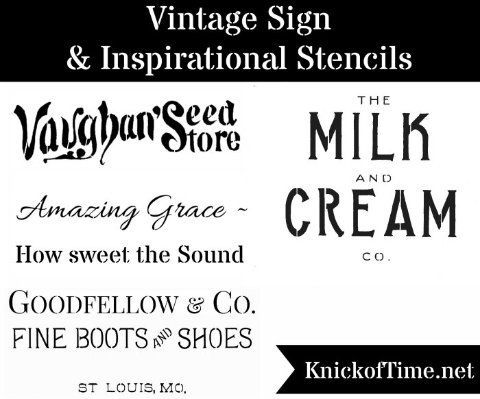 Vintage Sign Stencils by Knick of Time 700