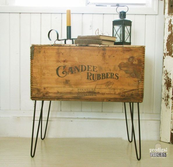 antique crate table
