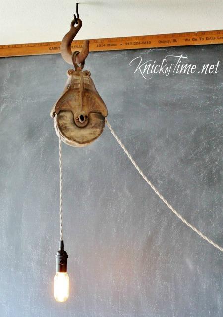 barn pulley farmhouse light
