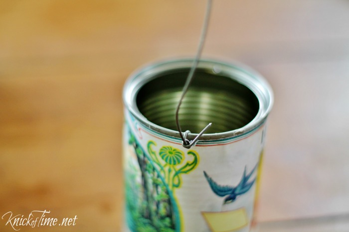 hanging tin cans