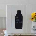 vintage milk bottle shape