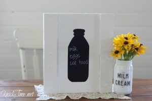 Old Milk Bottle Shape Stencils