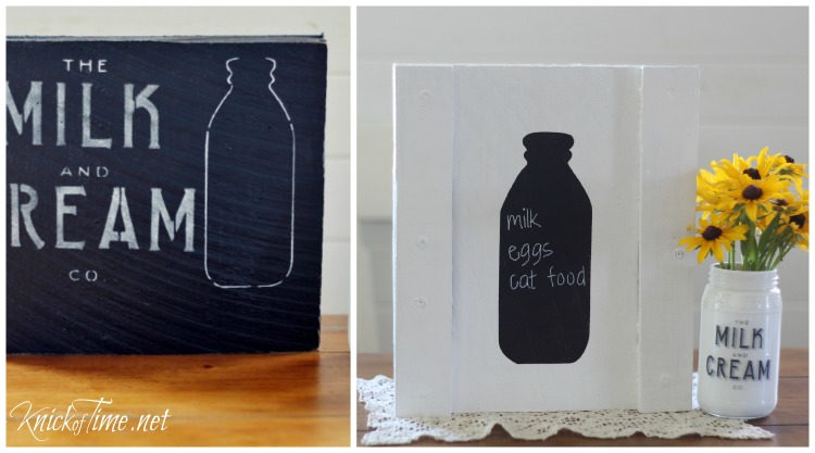 vintage milk bottle shape stencils