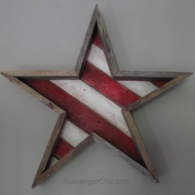 pallet wood star