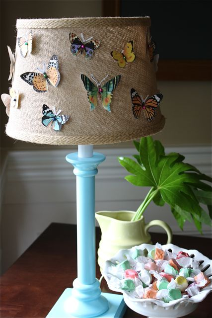 paper butterflies lamp