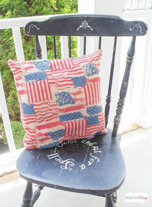 us flag pillow