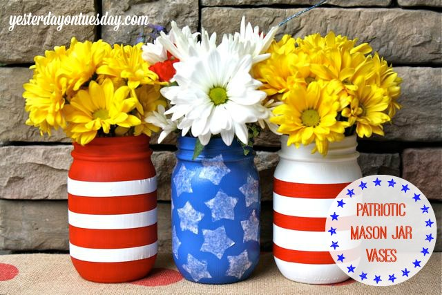 July 4th decor mason jars