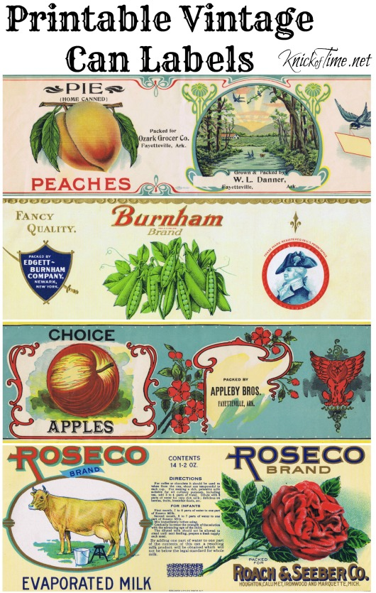 printable vintage can labels