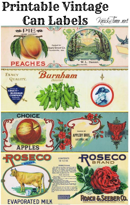 printable vintage can labels