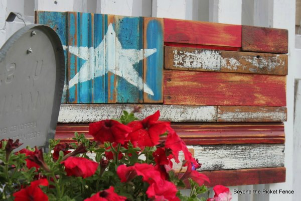 salvaged wood american flag