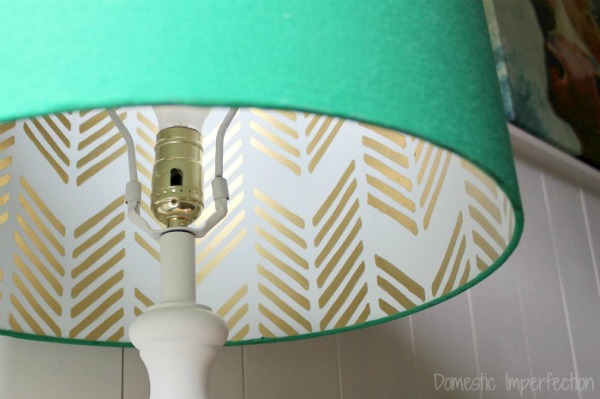 recover a lampshade
