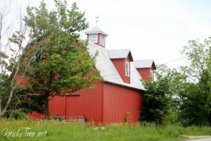 Red Barn with Weather Vane