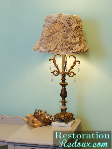 drop cloth lampshade