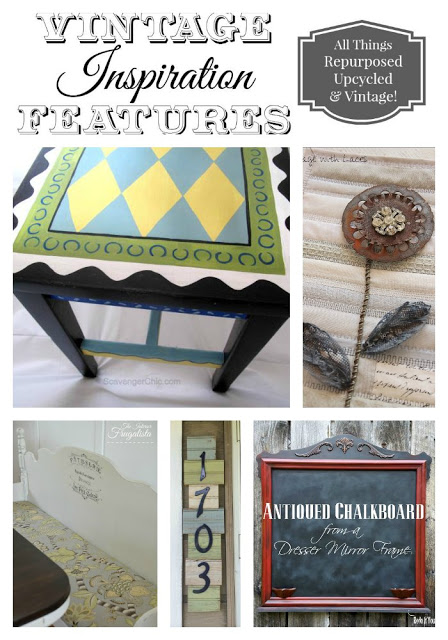 salvaged and upcycled
