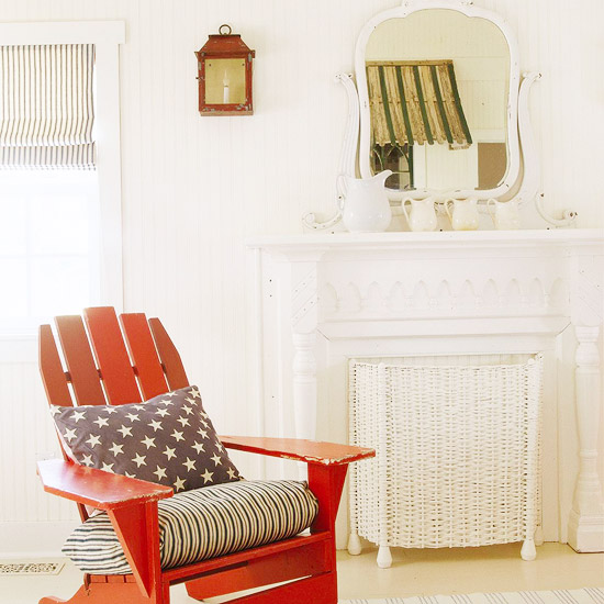 red white and blue furniture